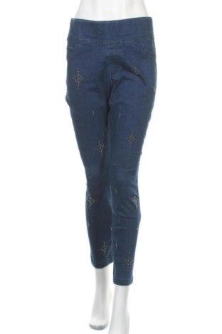 Дамски дънки One World, Размер XL, Цвят Син, 65% памук, 30% полиестер, 3% вискоза, 2% еластан, Цена 25,20лв.