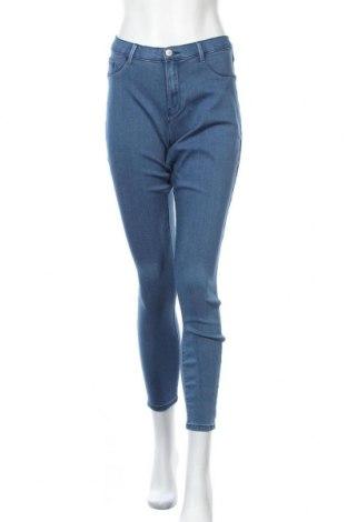 Дамски дънки Only Carmakoma, Размер XL, Цвят Син, 53% вискоза, 29% памук, 17% полиестер, 1% еластан, Цена 35,40лв.