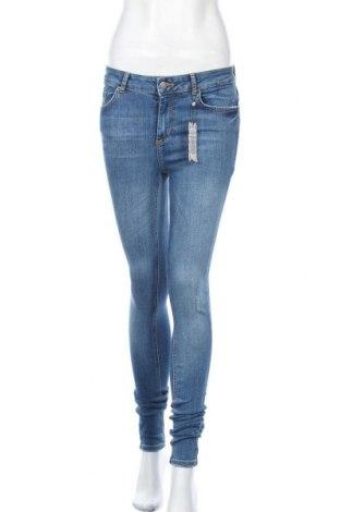 Γυναικείο Τζίν Pieces, Μέγεθος M, Χρώμα Μπλέ, 85% βαμβάκι, 13% πολυεστέρας, 2% ελαστάνη, Τιμή 13,87€
