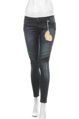 Дамски дънки Please, Размер S, Цвят Син, 98% памук, 2% еластан, Цена 34,98лв.