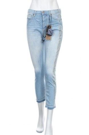 Дамски дънки Please, Размер S, Цвят Син, 98% памук, 2% еластан, Цена 61,92лв.