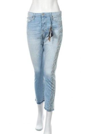 Дамски дънки Please, Размер M, Цвят Син, 98% памук, 2% еластан, Цена 94,17лв.