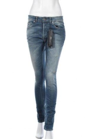 Дамски дънки Tigha, Размер L, Цвят Син, 99% памук, 1% еластан, Цена 134,25лв.