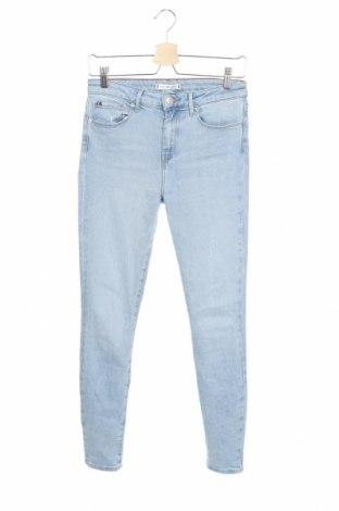 Дамски дънки Tommy Hilfiger, Размер M, Цвят Син, 83% памук, 13% лиосел, 3% еластан, Цена 141,75лв.