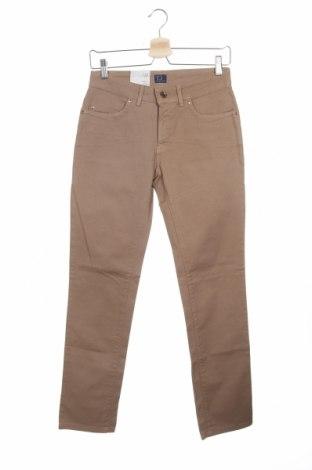 Дамски дънки Trussardi Jeans, Размер XS, Цвят Бежов, 98% памук, 2% еластан, Цена 130,20лв.
