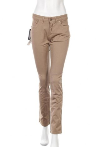 Дамски дънки Trussardi Jeans, Размер S, Цвят Бежов, 98% памук, 2% еластан, Цена 126,48лв.