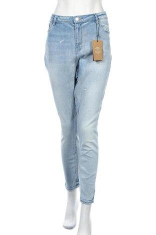 Дамски дънки Vero Moda, Размер XL, Цвят Син, 91% памук, 7% полиестер, 2% еластан, Цена 46,50лв.