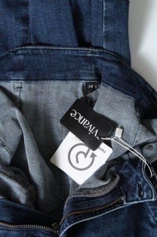 Дамски дънки Vivance, Размер M, Цвят Син, 97% памук, 3% еластан, Цена 57,67лв.