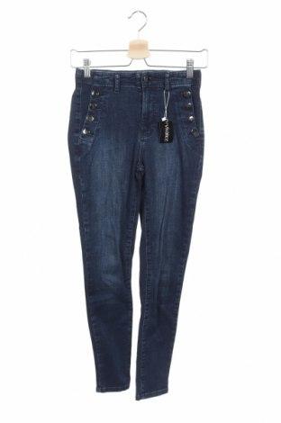 Дамски дънки Vivance, Размер XS, Цвят Син, 97% памук, 3% еластан, Цена 53,72лв.