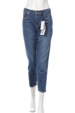 Дамски дънки Zara, Размер L, Цвят Син, 98% памук, 2% еластан, Цена 46,50лв.