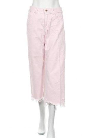 Дамски дънки Zara, Размер M, Цвят Розов, Памук, Цена 28,50лв.
