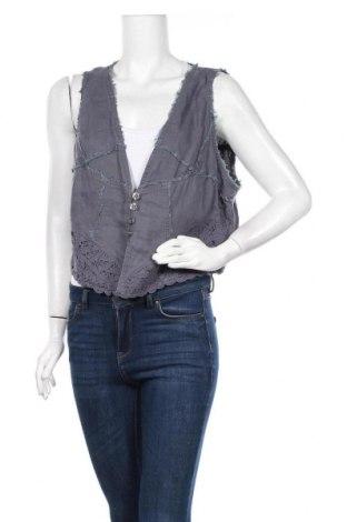 Γυναικείο γιλέκο Zay, Μέγεθος XL, Χρώμα Μπλέ, Λινό, Τιμή 11,59€