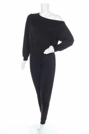 Дамски гащеризон Even&Odd, Размер L, Цвят Черен, 60% памук, 40% полиестер, Цена 29,50лв.