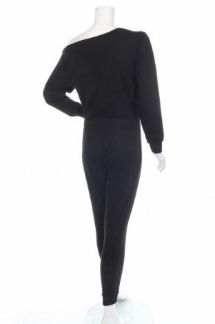 Дамски гащеризон Even&Odd, Размер S, Цвят Черен, 60% памук, 40% полиестер, Цена 29,50лв.