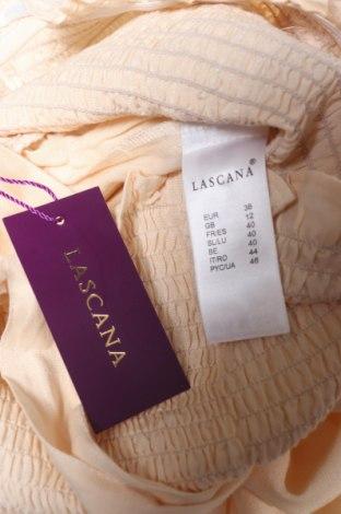 Дамски гащеризон Lascana, Размер M, Цвят Екрю, 58% вискоза, 28% памук, 14% лен, Цена 41,87лв.