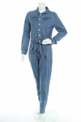 Дамски дънков гащеризон Missguided, Размер M, Цвят Син, 89% памук, 11% вискоза, Цена 39,00лв.