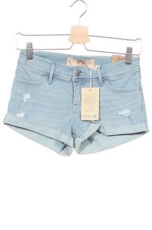 Γυναικείο κοντό παντελόνι Hollister, Μέγεθος XS, Χρώμα Μπλέ, 62% βαμβάκι, 21% μοντάλ, 16% lyocell, 1% ελαστάνη, Τιμή 19,12€