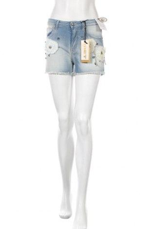 Дамски къс панталон Met, Размер S, Цвят Син, 98% памук, 2% еластан, Цена 31,28лв.
