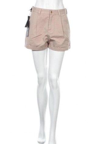 Γυναικείο κοντό παντελόνι Replay, Μέγεθος M, Χρώμα  Μπέζ, 97% βαμβάκι, 3% ελαστάνη, Τιμή 38,56€