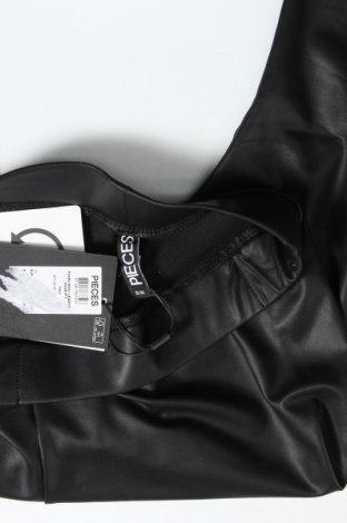 Γυναικείο κολάν Pieces, Μέγεθος S, Χρώμα Μαύρο, 90% πολυεστέρας, 10% ελαστάνη, Τιμή 13,92€