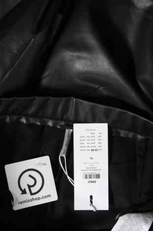 Дамски кожен клин ONLY, Размер XL, Цвят Черен, Еко кожа, Цена 25,97лв.