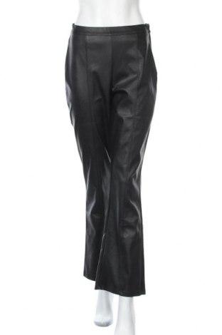 Γυναικείο παντελόνι δερμάτινο Gina Tricot, Μέγεθος M, Χρώμα Μαύρο, Δερματίνη, Τιμή 17,18€