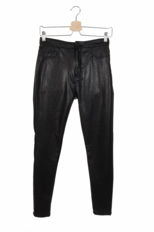 Дамски кожен панталон ONLY, Размер M, Цвят Черен, Еко кожа, Цена 36,57лв.