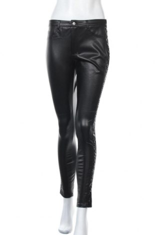 Дамски кожен панталон ONLY, Размер M, Цвят Черен, Еко кожа, Цена 47,40лв.