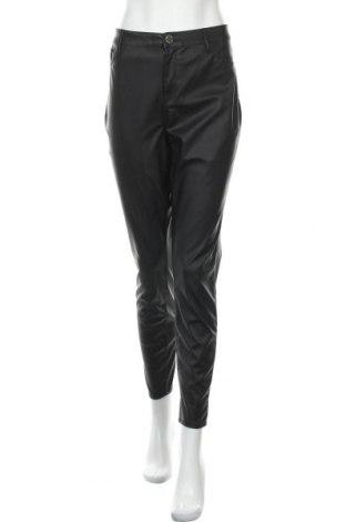 Дамски кожен панталон River Island, Размер XL, Цвят Черен, Еко кожа, Цена 31,27лв.