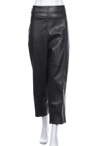 Γυναικείο παντελόνι δερμάτινο River Island, Μέγεθος XXL, Χρώμα Μαύρο, Δερματίνη, Τιμή 24,19€