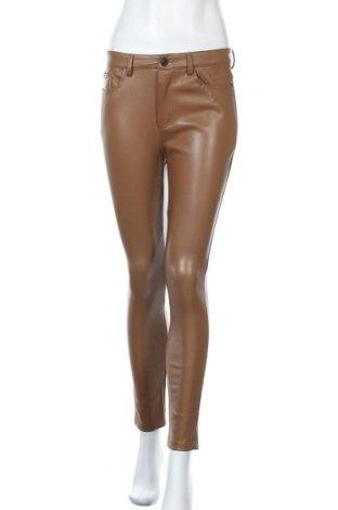 Дамски кожен панталон Saint Germain, Размер S, Цвят Кафяв, Еко кожа, Цена 39,22лв.