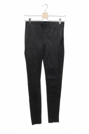 Дамски кожен панталон Selected Femme, Размер M, Цвят Черен, Естествена кожа, Цена 144,50лв.