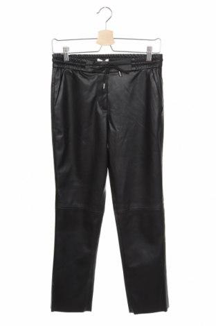 Дамски кожен панталон Tom Tailor, Размер XS, Цвят Черен, Еко кожа, Цена 65,28лв.