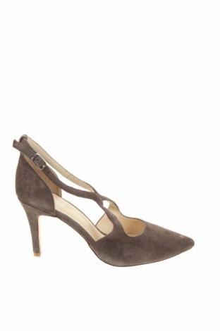 Дамски обувки Anna Field, Размер 41, Цвят Сив, Естествен велур, Цена 20,10лв.