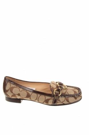 Γυναικεία παπούτσια Coach, Μέγεθος 38, Χρώμα  Μπέζ, Κλωστοϋφαντουργικά προϊόντα, γνήσιο δέρμα, Τιμή 48,25€
