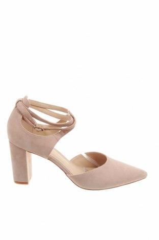 Дамски обувки Pier One, Размер 42, Цвят Бежов, Естествен велур, Цена 38,15лв.