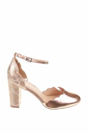 Γυναικεία παπούτσια Wallis, Μέγεθος 41, Χρώμα Χρυσαφί, Δερματίνη, Τιμή 20,33€