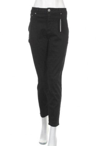 Γυναικείο παντελόνι Arizona, Μέγεθος XXL, Χρώμα Μαύρο, 63% βαμβάκι, 32% πολυεστέρας, 5% ελαστάνη, Τιμή 30,54€
