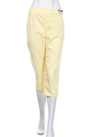 Дамски панталон Breakers, Размер XXL, Цвят Жълт, Памук, полиестер, еластан, Цена 33,81лв.