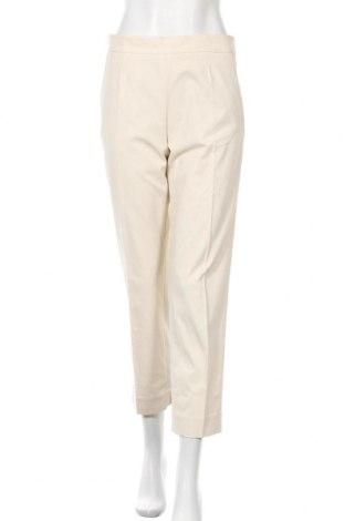 Дамски панталон COS, Размер S, Цвят Бежов, 64% памук, 31% полиамид, 5% еластан, Цена 44,64лв.