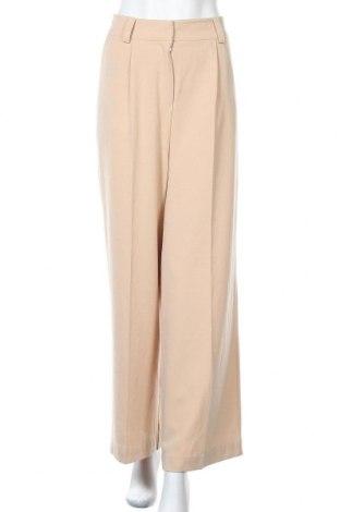 Дамски панталон Edited, Размер L, Цвят Бежов, 80% полиестер, 15% вискоза, 5% еластан, Цена 40,12лв.