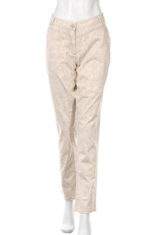 Γυναικείο παντελόνι Gina Tricot, Μέγεθος L, Χρώμα  Μπέζ, 98% βαμβάκι, 2% ελαστάνη, Τιμή 17,54€