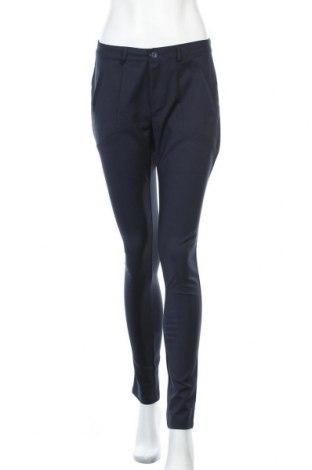 Дамски панталон Kaffe, Размер S, Цвят Син, 61% памук, 36% полиестер, 3% еластан, Цена 60,52лв.