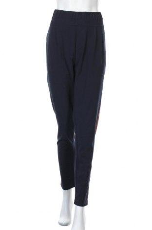 Дамски панталон Kaffe, Размер XL, Цвят Син, 68% полиестер, 28% вискоза, 4% еластан, Цена 74,46лв.