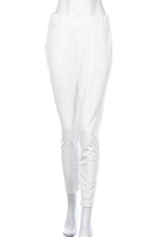 Дамски панталон Kaffe, Размер S, Цвят Бял, 68% полиестер, 28% вискоза, 4% еластан, Цена 69,36лв.