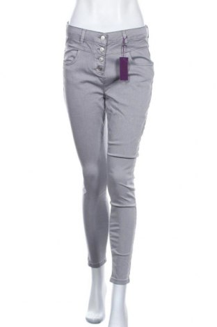 Γυναικείο παντελόνι Lascana, Μέγεθος M, Χρώμα Γκρί, 66% βαμβάκι, 31% πολυεστέρας, 3% ελαστάνη, Τιμή 30,54€