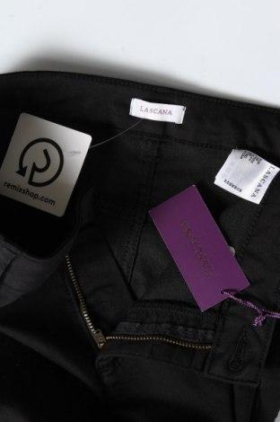 Дамски панталон Lascana, Размер S, Цвят Черен, 66% памук, 31% полиестер, 3% еластан, Цена 39,50лв.