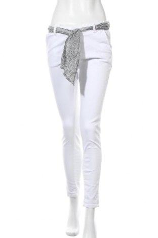 Γυναικείο παντελόνι Le Temps Des Cerises, Μέγεθος M, Χρώμα Λευκό, 98% βαμβάκι, 2% ελαστάνη, Τιμή 22,95€