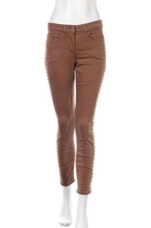 Γυναικείο παντελόνι Madeleine, Μέγεθος S, Χρώμα Καφέ, 56% βαμβάκι, 35% βισκόζη, 7% πολυεστέρας, 2% ελαστάνη, Τιμή 25,52€