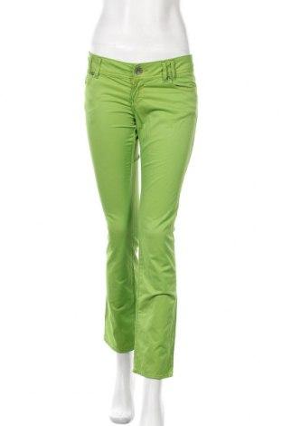 Γυναικείο παντελόνι Miss Sixty, Μέγεθος M, Χρώμα Πράσινο, 62% βαμβάκι, 32% πολυαμίδη, 6% ελαστάνη, Τιμή 31,55€
